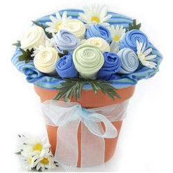 Nikki's Baby Blossom Clothing Bouquet Gift-Boy