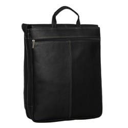 Royce Leather 17-inch Vertical Laptop Messenger Bag