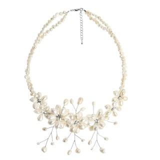 Handmade Sakura Pearl Flower Necklace (Thailand)