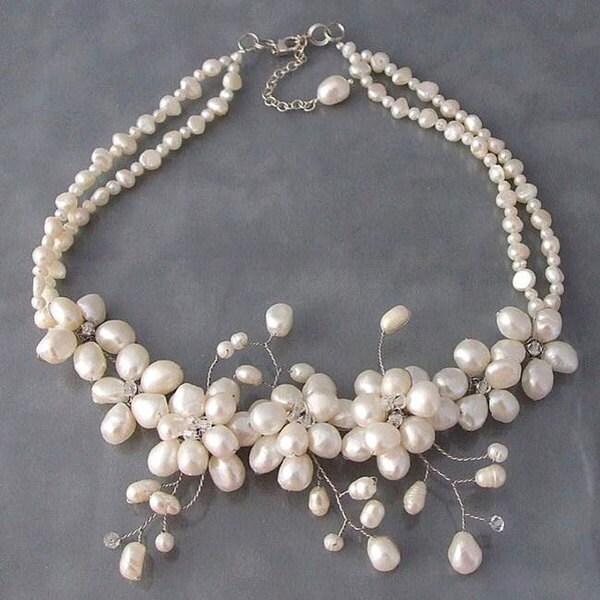 Sakura Pearl Flower Necklace (Thailand)