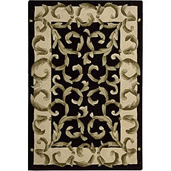 Nourison Hand-tufted Versaille Palace Black Rug (2'3 x 8')