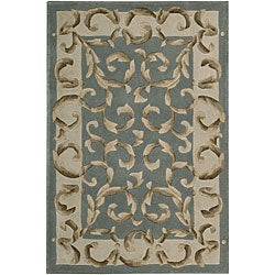 Nourison Hand Tufted Versailles Palace Aqua Green Rug 8