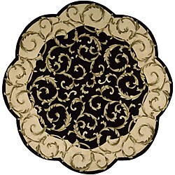 Nourison Hand-tufted Versaille Palace Black Rug (6 x 6) Octagon