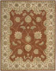 Nourison Hand Tufted Beaufort Copper Wool Rug (7'6 x 9'6) - Thumbnail 1