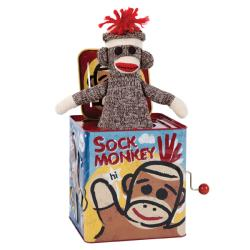 Sock Monkey Jack in the Box - Thumbnail 1