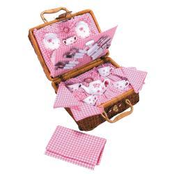 Butterfly Tea set Basket - Thumbnail 1
