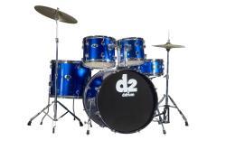 DDrum D2 Beginner 5-piece Police Blue Drum Set - Thumbnail 2
