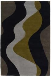 Hand-tufted 'Mandara' Grey Wool Rug (5' x 7'6) - Thumbnail 2