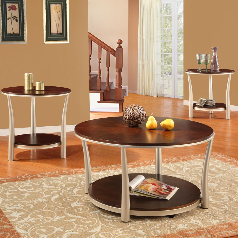Asbury 3-piece Cherry-finished Table Set