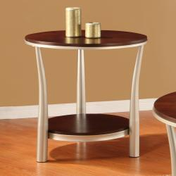 Asbury 3-piece Cherry-finished Table Set - Thumbnail 1
