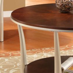 Asbury 3-piece Cherry-finished Table Set - Thumbnail 2