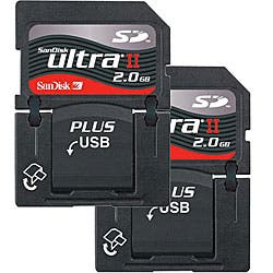 SanDisk 2GB Ultra II SD Plus USB Flash Memory Cards (Case of 2) New in Non-Retail Packaging|https://ak1.ostkcdn.com/images/products/5100841/SanDisk-2GB-Ultra-II-SD-Plus-USB-Flash-Memory-Cards-Case-of-2-New-in-Non-Retail-Packaging-P12954263.jpg?impolicy=medium