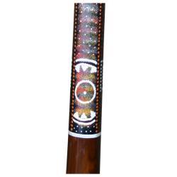 Teak Wood Aztec Painted 51-inch Didgeridoo (Indonesia)