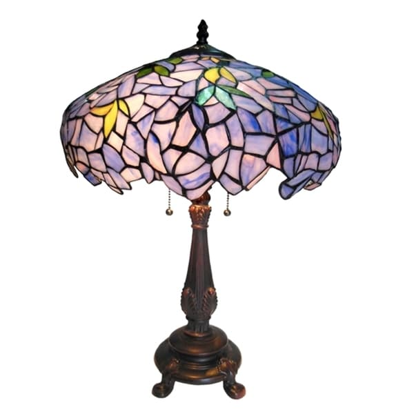 Tiffany Style Wisteria 2 Light Table Lamp
