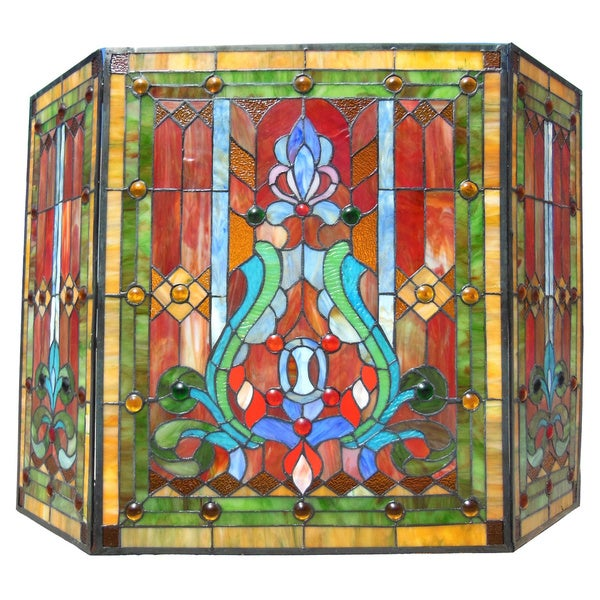 Victorian Stained Glass Fireplace Screen Free Shipping Today