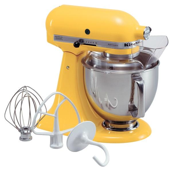 Shop Kitchenaid Rksm500bf Buttercup Yellow Pro 500 5 Quart