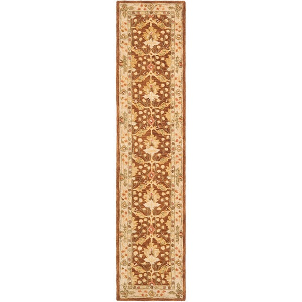 Safavieh Handmade Anatolia Oushak Brown/ Beige Wool Rug (2'3 x 14')