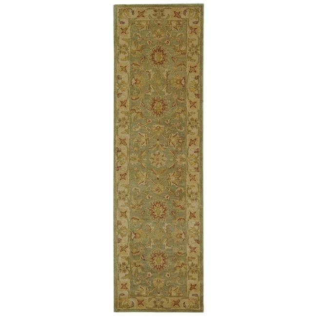 Safavieh Handmade Antiquities Gem Green Wool Runner (2'3 x 20')
