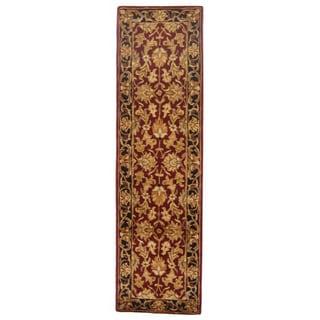 Safavieh Handmade Heritage Kashan Burgundy/ Black Wool Runner (2'3 x 16')