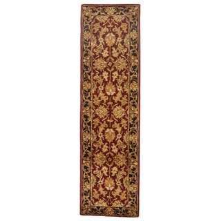 Safavieh Handmade Heritage Traditional Kashan Burgundy/ Black Wool Runner (2'3 x 16')|https://ak1.ostkcdn.com/images/products/5101138/Handmade-Heritage-Kashan-Burgundy-Black-Wool-Runner-23-x-16-P12954471.jpg?impolicy=medium