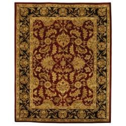 Safavieh Handmade Heritage Traditional Kashan Burgundy/ Black Wool Rug (12u0027  X ...