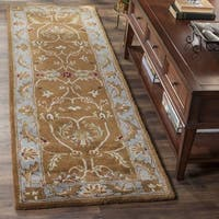Safavieh Handmade Heritage Timeless Traditional Brown/ Blue Wool Runner Rug - 2'3 x 20'