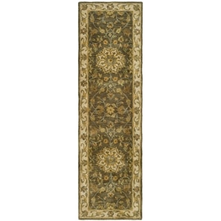 Safavieh Handmade Heritage Timeless Traditional Taupe/ Ivory Wool Runner (2'3 x 16')