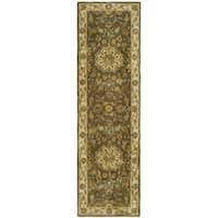 Safavieh Handmade Heritage Timeless Traditional Taupe/ Ivory Wool Runner (2'3 x 16')
