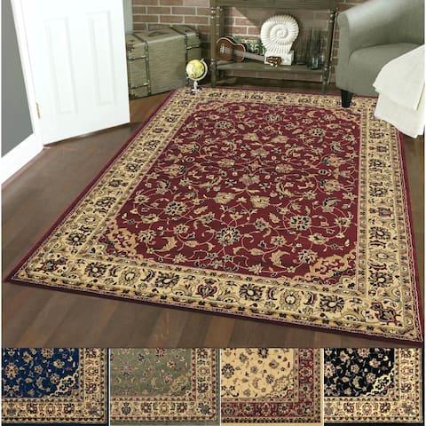 Admire Home Living Caroline Traditional Floral Sarouk Pattern Area Rug
