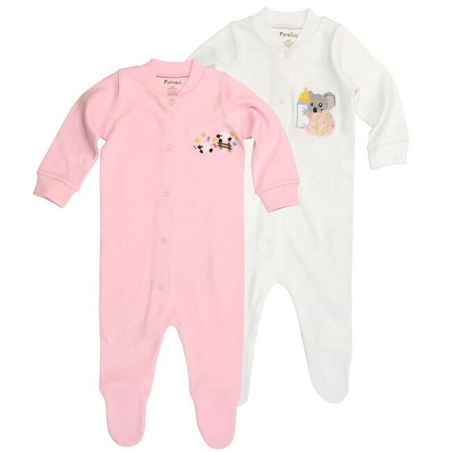 Funkoos Sheep and Koala Organic Baby Sleepsuits (Pack of 2)