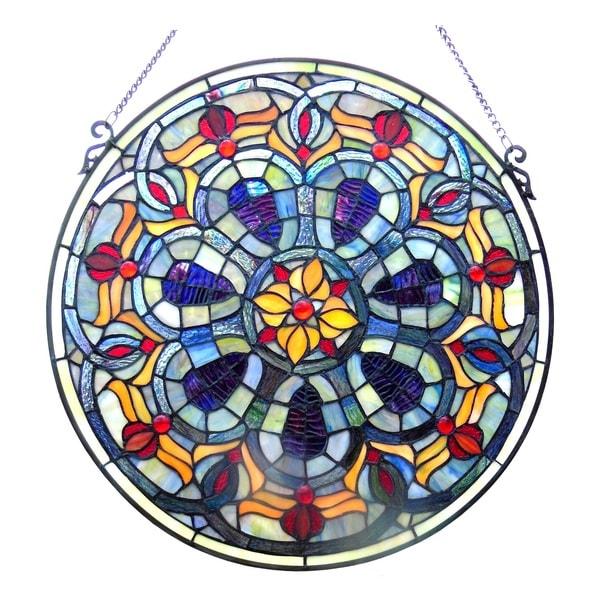 Chloe Tiffany-style Victorian Window Panel