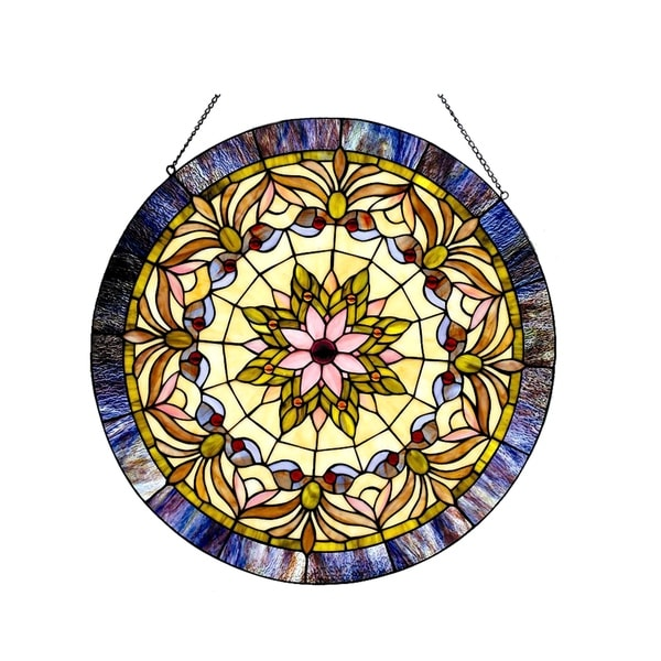 Chloe Tiffany-style Victorian Window Panel