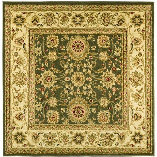 Lyndhurst Collection Majestic Sage/ Ivory Rug (8 Square)