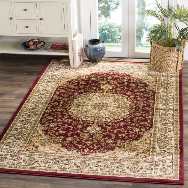 Safavieh Lyndhurst Traditional Oriental Red/ Ivory Rug - 6' x 6' Square