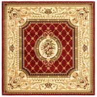 Safavieh Lyndhurst Traditional Oriental Red/ Ivory Rug (6' Square)