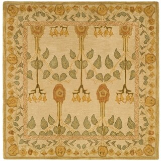 Safavieh Handmade Anatolia Elisabeth Traditional Oriental Wool Rug (8 x 8 Square - Ivory)