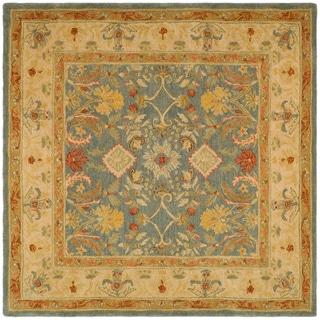 Safavieh Handmade Legacy Light Blue Wool Rug (6' Square)