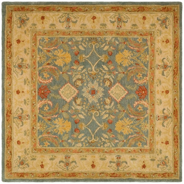 Safavieh Handmade Anatolia Oriental Legacy Light Blue Hand-spun Wool Rug - 6' x 6' Square