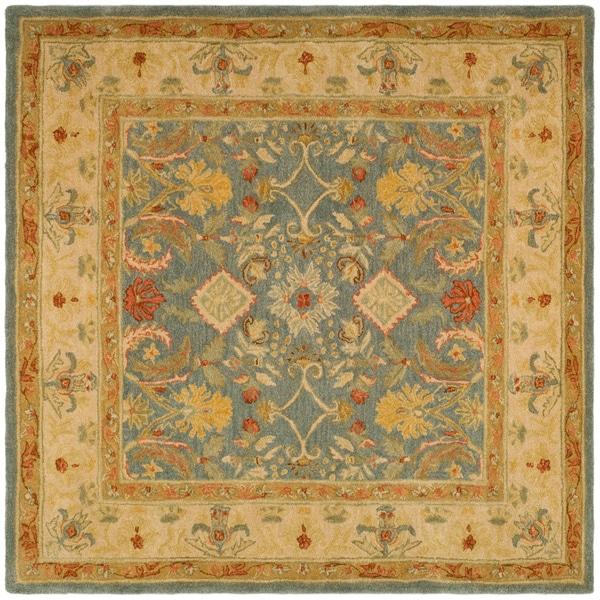 Safavieh Handmade Anatolia Oriental Legacy Light Blue Hand-spun Wool Rug (8' Square)
