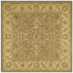 Safavieh Handmade Antiquities Treasure Brown/ Gold Wool Rug (8' Square)