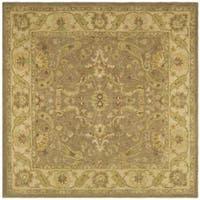 Safavieh Handmade Antiquities Treasure Brown/ Gold Wool Rug - 8' x 8' Square