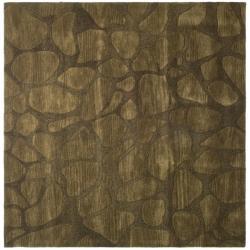 Safavieh Handmade Soho Pebbles Brown New Zealand Wool Rug (6' Square)