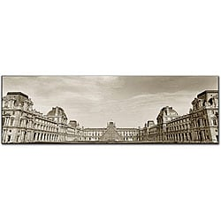 Preston 'Louvre' Gallery-wrapped Canvas Art