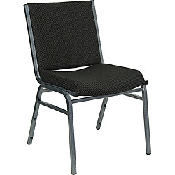 Heavy Duty Black Patterned Upholstered Stack Chairs (Case of 40)