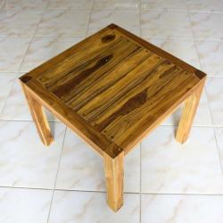 Farmed Teak Tung Oil Finished Inlay End Table (Thailand) - Thumbnail 1