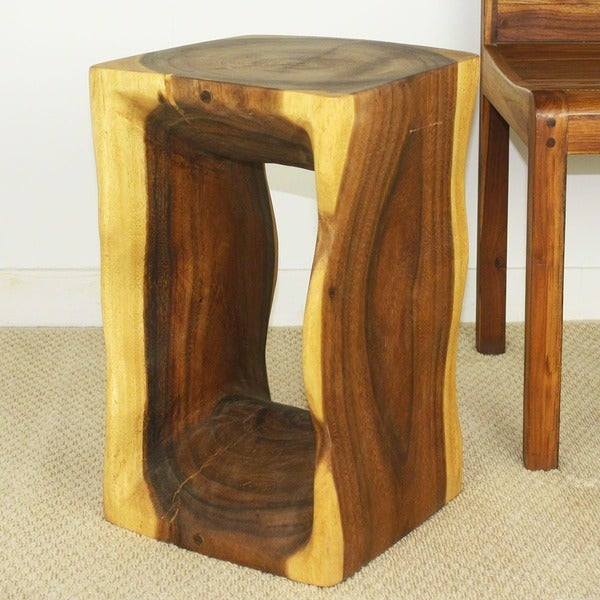 Wooden Natural Tung Oil Finish Stool (Thailand)