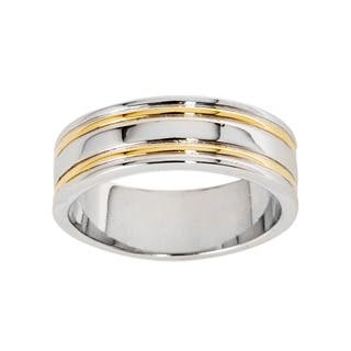 NEXTE Jewelry 14k Gold Overlay Railed Women's Band (7 mm)|https://ak1.ostkcdn.com/images/products/5105657/P12958079.jpg?impolicy=medium