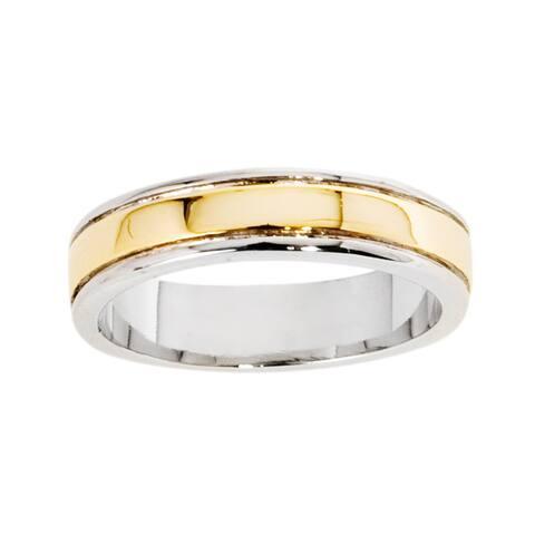 NEXTE Jewelry 14k Gold Overlay Men's Center Ridge Band (5 mm)