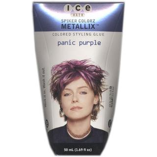 Joico Ice Hair Spiker Colorz Metallix Panic Purple 1.69-ounce Styling Glue