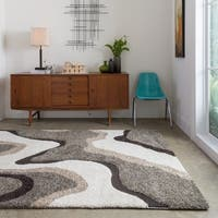 Palm Canyon Arquilla Multicolor Shag Rug (5'3 x 7'7) - 5'3 x 7'7